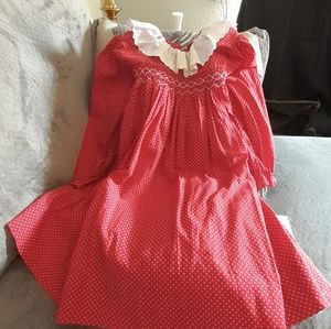 Vintage  Alisa garrett smocked dress